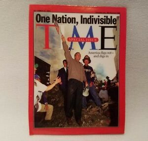 Time Magazine September 2001 President George W. Bush Refrigerator Fridge Magnet