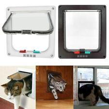 4-Way Pet Cat Kitten Magnetic Flap Door Lock Lockable Plastic Gate For Cat Dog