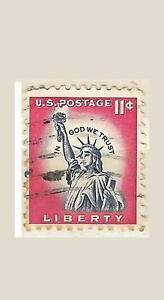 US 1044A Statue of Liberty 11c single 1961