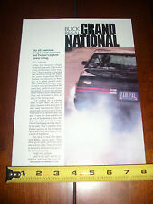 BUICK GRAND NATIONAL - ORIGINAL ARTICLE