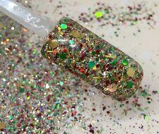 glitter mix nail art acrylic gel   OLD TIME CHRISTMAS