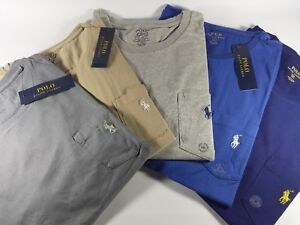New Authentic Polo Ralph Lauren Cotton Jersey Pocket T-Shirt CLEARANCE
