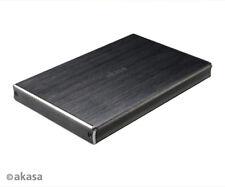 """Akasa AK-EN2SU3-1B Noir 2SX USB 3.1 Aluminium Enclosure for 2.5"""" SATA HDD/SSD"""