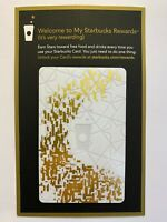 Starbucks White Gold Rewards Gift Card 2013 - with $5.00 balance