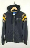 Mens Adidas Black Spellout Zip Up Hoodie Hooded Jacket Size M Medium