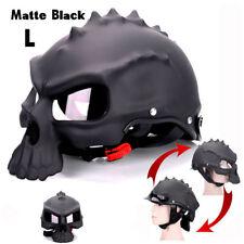 1x Dual Use Skull Motorcycle Helmet (dual Use) Motorbike Half Face - L Size
