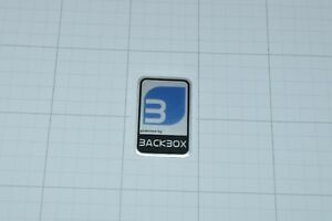 Powered by Backbox Linux Metal Decal Sticker Computer PC Laptop Badge