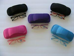 Kids Glasses Blue Light Blocking Computer Gaming Eyewear Unisex With Case