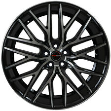 4 GWG Wheels 22 inch Black Machined FLARE Rims fits FORD EDGE 2015 - 2018