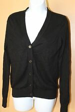Victoria Secret MODA International Silk Cashmere Blnd Black Cardigan Sz S A3