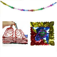 4X Christmas Foil Ceiling Garland Hanging Xmas Decoration Multi Colour 2017 New