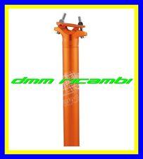 Tubo reggisella Bici WAG 31,6 x 350 MTB BDC FIXED FAT BIKE SINGLE SPEED Arancio