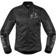 Blousons noir avec doublure thermique pour motocyclette Femme