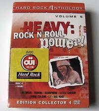 HARD ROCK ANTOLOGY  5 . Anthrax, Voivod, Scorpions . 4 DVD BOX NEUF
