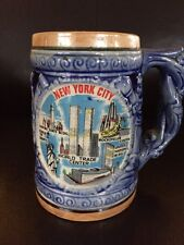 NEW YORK CITY VIntage Mug Twin Towers, St  Liberty, Empire State Building