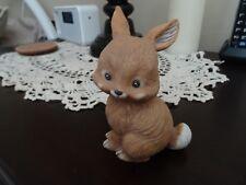 Vintage Lefton China 00171 Brown Bunny Rabbit Figurine (D)