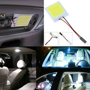 White 48 SMD COB LED T10 4W 12V Car Interior Panel Light Dome Lamp Bulb bw