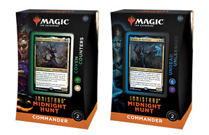 MTG Innistrad: Midnight Hunt - Commander Deck Display (x2 Decks) FREE POSTAGE