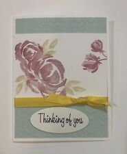 Card Kit Set Of 4 Stampin Up Flowers Embossed THINKING OF YOU