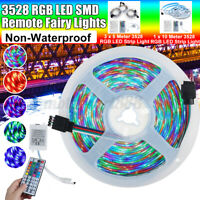 44 KEY IR REMOTE CONTROLLER + RGB LED STRIP CHANGING LIGHTS 3528 5/10M 60LED 12V