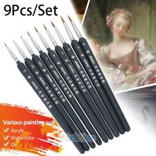 9 Packs Detail Paint Brush Acrylic Oil Fine Watercolor Painting Brushes Supplies