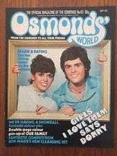OSMONDS WORLD Issue № 43 May 1977 UK Monthly Music Magazine