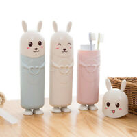 Portable Travel Kids Cartoon Stand Rabbit Cute Toothbrush Holder Container
