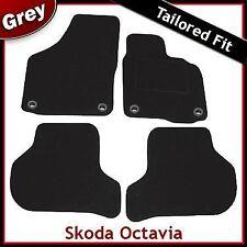 Skoda Octavia Mk2 Tailored Fitted Carpet Car Mats GREY (2004 2005...2013) Oval