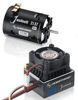 Hobbywing XR10 Justock ESC + Justock 21.5T Black G2.1 Brushless Motor COMBO