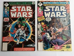 Lot Of 2 Star Wars Comic Books #1 and 7