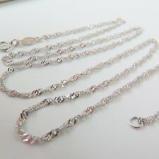 Authentic Platinum 950 Necklace Special Women Gent's Lucky Chain Pt950