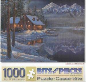 Sam Timm 1000 Pc Bits and Pieces Jigsaw Puzzle Shoreline Mountain