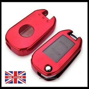 Chrome Red Key Cover Case For Citroen C3 C5 Aircross C4 Cactus C-Elysee t11red