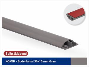 BodenKabelkanal 30x10 mm / TV Kabelkanal / selbstklebend / Halbrund