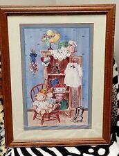 "Rare~Retired Home Interiors Homco (21x16) Framed Art Print ""Granny's Attic"""