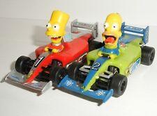 MICRO Scalextric - Pair of F1 Homer & Bart Simpson Cars - Mint Cdn.