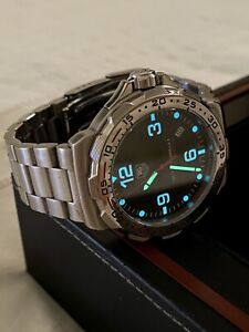 Tag Heuer Formula 1 watch Limited Edition 41mm Carbon Dial, box WAH1115 Men