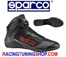 SCARPE KART SPARCO SUPERLEGGERA KARTING SHOES SIZE EU 42 BLACK KARTSCHUHE