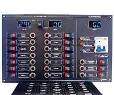 17 Way AC/DC Circuit Breaker & Switch Panel, Meters, RCBO