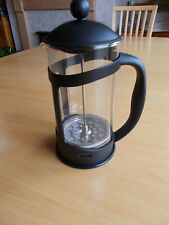black cafetiere - 8 cup - glass