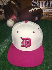 City Hunter Detroit Tigers snapback hat PINK Cancer MLB Baseball h9