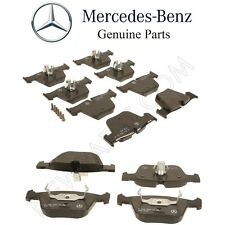 Mercedes C216 CL63 AMG W221 Front & Rear Disc Brake Pad Sets With Shims Genuine