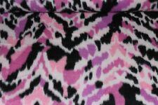 "Fleece Fabric ~ Pink camolike  60"" ~ BTY"