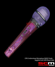 MICROPHONE HANDHELD DYNAMIC UNIDIRECTIONAL TRANSPARENT PURPLE  BODY WITH CABLE