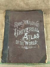 "1896 Rand, McNally & Co.'s Indexed Universal Atlas Of The World. 11.5""x14"""