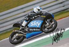 Romano Fenati mano firmato VR46 SKY RACING TEAM KTM 12x8 FOTO 2014 MOTO3 3.
