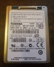 """100GB 1.8"""" ZIF HDD TOSHIBA MK1011GAH FOR IPOD 5.5 5.5G GEN CLASSIC ~*USED*"""