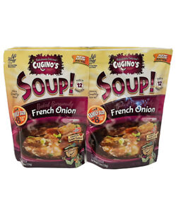 4 Packs Cugino's Gourmet Foods French Onion Soup 5.6 OZ  Aug 2022 survival food