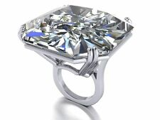100 ct Cocktail Party Ring inspired 925 Sterling Silver White Radiant Gift Cz Sz