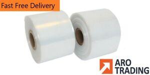 "5"" Layflat Polythene Tubing Clear Polythene Rolls 250 & 500G on roll Cheap"